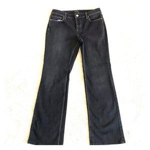 White House black market mid rise boot cut jeans